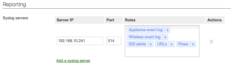 Configuring remote syslog from routers, switches, & network devices